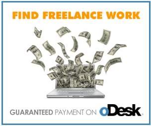 Make money as a freelancer at Odesk.com
