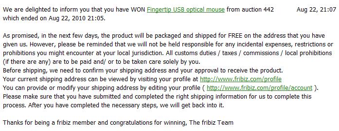 Fribiz Prize - get free stuff from Fribiz.com
