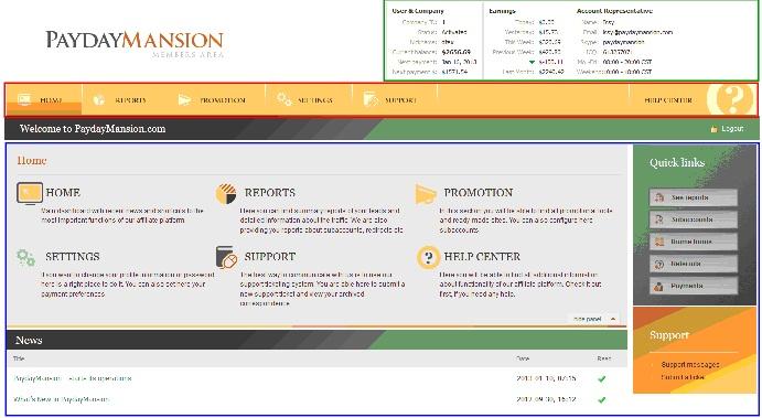 Affiliate platform at PaydayMansion
